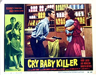 Cry Baby Killer 1958 Authentic, Original Jack Nicholson 11x14 Lobby Card #5 Movie Poster