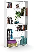 Home Canvas Modern Book Shelves for Living Room or Study Room Book Shelve, Easy Assembly Book Shelf - Walnut and Chrome