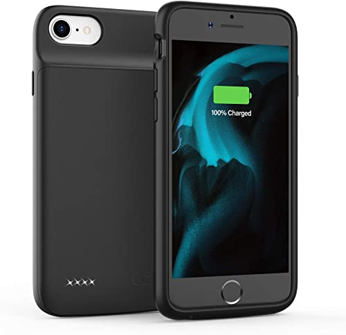 Battery Case for iPhone 6 6S 7 8 SE 2020 (2nd Generation), 3200mAh Charging Case, Protective Charger Case, Portable E...