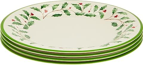 Lenox 863669 Holiday 4-Piece Melamine Dinner Plate Set