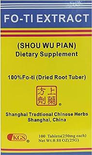 SHOU WU TABLETS (SOU WU PIAN) 250mg X 100 tablets per box