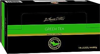 Sir Thomas Lipton Green Tea, Foil Wrapped Tea Bags, 100 Pieces, Smooth Green Tea