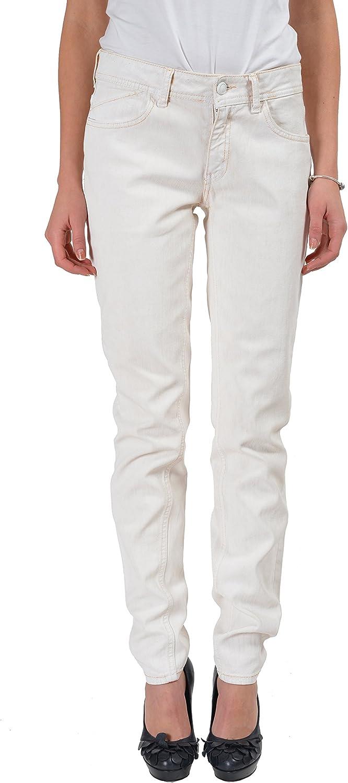 Just Cavalli White Covered Denim Straight Legs Women's Jeans US 4 IT 26
