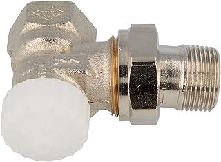 TA Heimeier 3711-02.000 V-exakt II - Pieza inferior para termostato (con rosca de reducción, niquelada, esquina 1,27cm, kvs 0,86)
