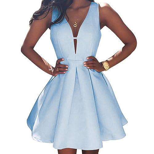 c481b9291196 VinBridal Simple Little Homecoming Dress Short Sleeveless Ball Gown Prom  Dresses