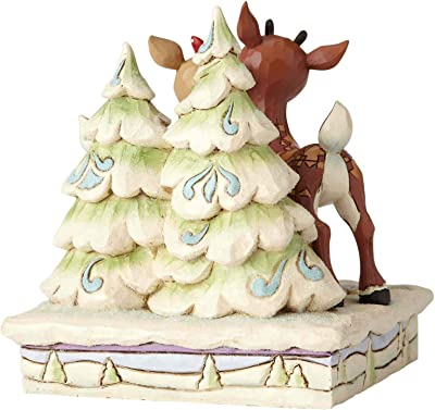 Department56 Enesco Jim Shore Traditions 6001588 Rudolph and Clarice by Trees Figurine