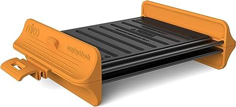 Morphy Richards 511646 Mico Grill - Batería de cocina para microondas, silicona y metal recubierto, color naranja