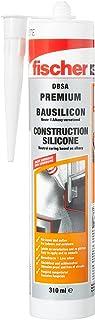 fischer Bausilicon DBSA, geurarme premium silicone, weerbestendige afdichtmassa voor binnen en buiten, patroon voor talrij...