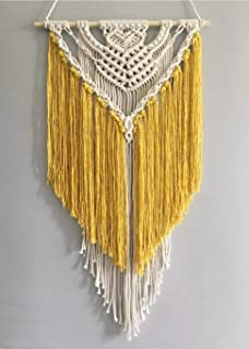 Youngeast Handmade Macrame Wall Hanging Art Home Décor 31 x 16 inches Yellow