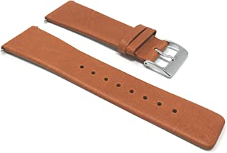 Quick Release Pushpins, Genuine Leather Replacement Watch Band Strap for Skagen Watches, Attaches with Pushpins, Many Colors - 18mm, 20mm, 22mm, 24mm