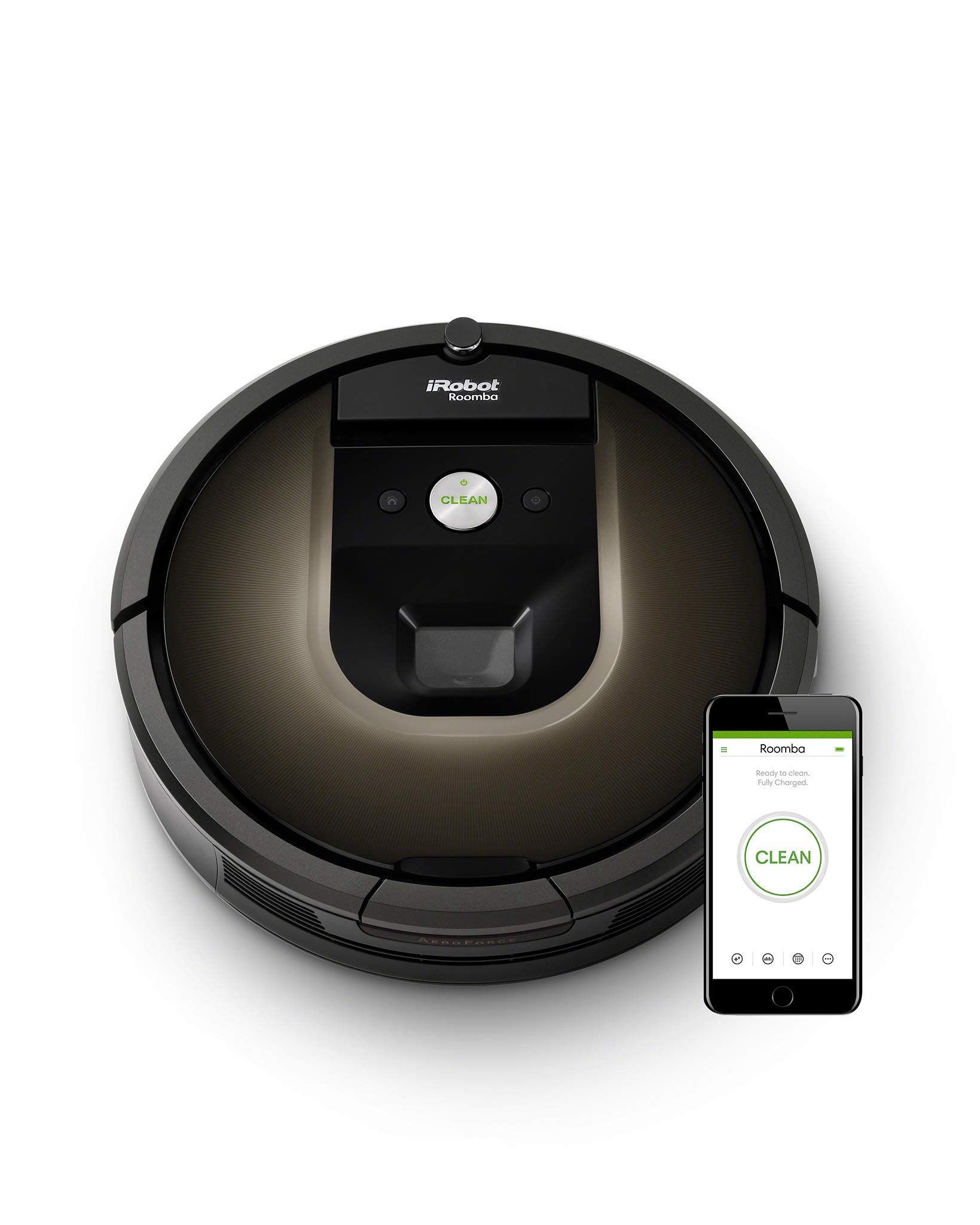 iRobot Roomba 980 Bolsa para el polvo Negro aspiradora robotizada - Aspiradoras robotizadas (Bolsa para el polvo, Negro, Alrededor, 120 min, 35,3 cm, 92 mm): Amazon.es: Hogar
