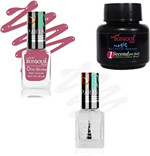 Bonjour Paris Gel Finish Nail Polish 2 pieces with Magic Remover Free