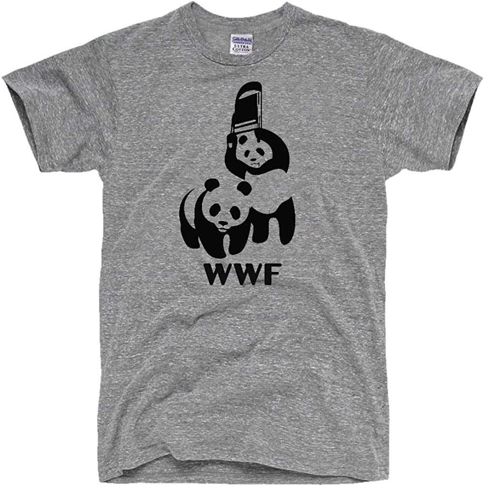 4. Men's WWF Funny Panda Bear Wrestling T Shirt
