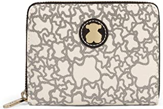 Kaos Mini - Monedero para Mujer, Beige, 13 x 11 x 2 cm