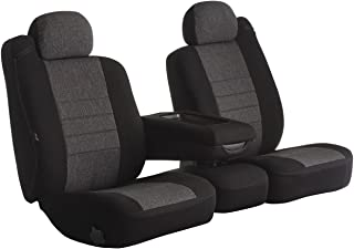 Fia OE38-15 CHARC Custom Fit Front Seat Cover Bucket Seats - Tweed, (Charcoal)