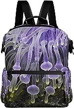Backpack Purple Anemone Womens Laptop Backpacks Hiking Bag Travel Daypack
