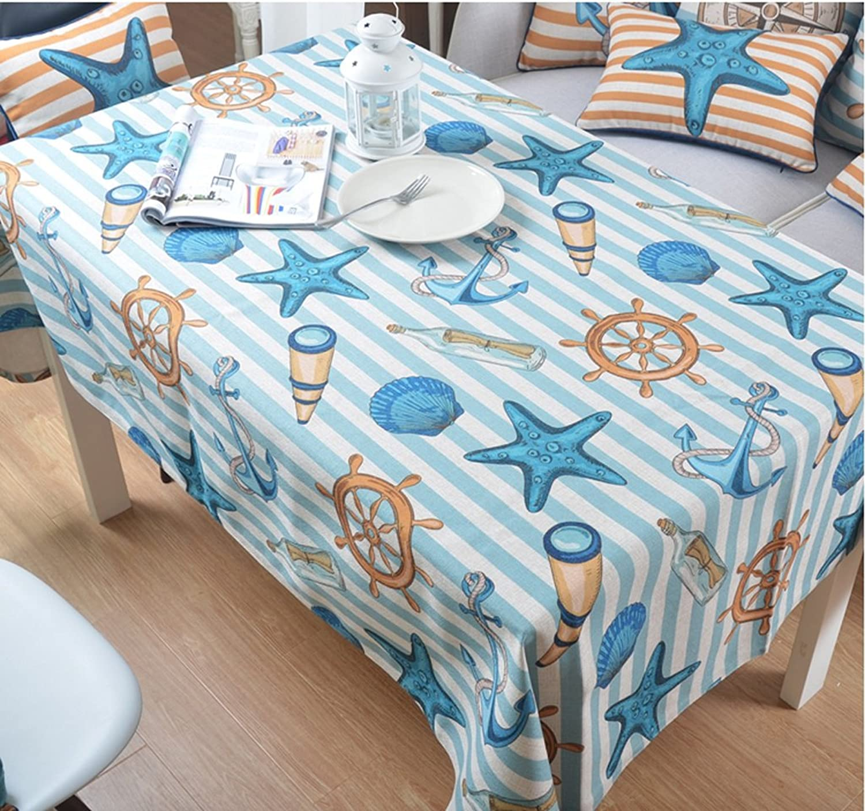 Hyun times Méditerranéenne texture papier peint style marin de coton épais tissu recouvert hippocampe Table d'étoile de mer ( taille   200145 )