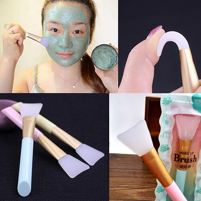 勝つ相関する寄稿者女性の顔のマスクミキシングツールプロ完璧なメイクファンデーションソフトシリコーン化粧ブラシ泥クリームマスク Profissional