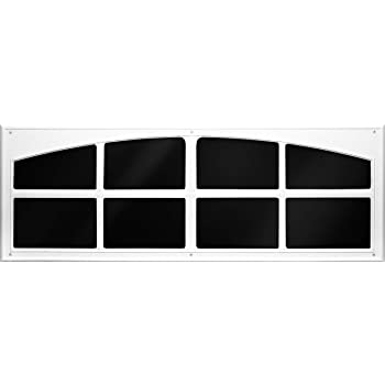 Coach House Accents Signature Décor Simulated Garage Door Window (2 Windows per kit) - White - Model AP143199