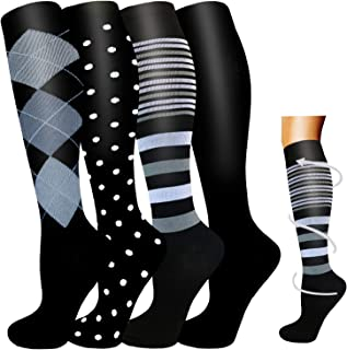 Compression Socks Women Men-20-30 mmHg is Best for Circulation,Running,Athletic,Hiking,Pregnancy