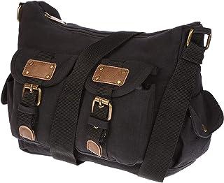 Christian Wippermann Damen Handtasche Schultertasche Tasche Umhängetasche Canvas Shopper Crossover Bag Schwarz
