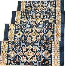 JIAJUAN Stair Carpet Treads Rectangular Non-Slip Thick Self-Adhesive Rugs Stair Treads, 6 Styles, 5 Sizes, Customizable (C...