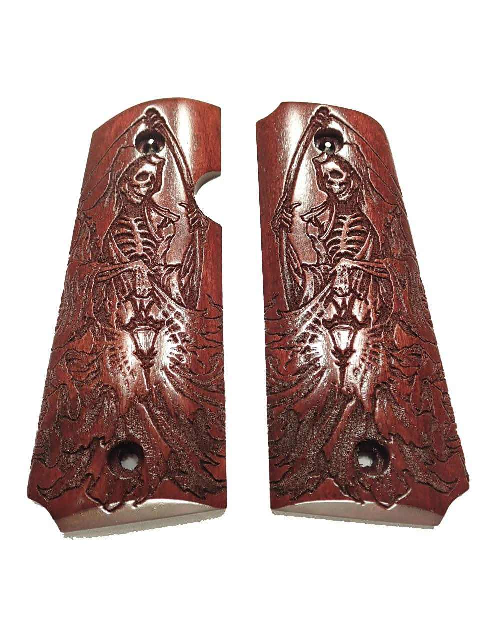 Grim Reaper Rosewood Rock Island Easy-to-use Texture 1911 Engraved 380 excellence Grips