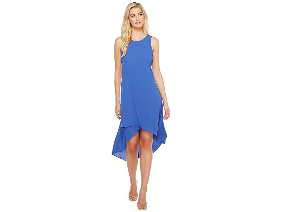 Karen Kane Asymmetric Hi Lo Dress (Iris) Women