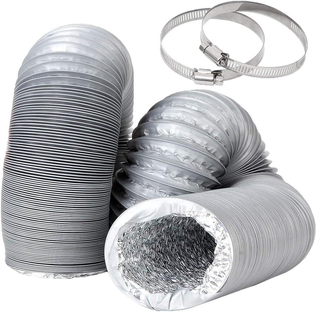 3 Inch PVC Ventilation Ducting 16 Flexible New life Aluminum New mail order Grey Long FT