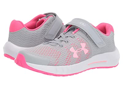 Under Armour Kids UA PS Pursuit BP AC (Little Kid) (Mod Gray/White/Pinkadelic) Girls Shoes