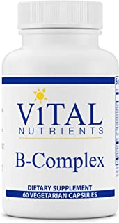 Vital Nutrients - B-Complex - Balanced High Potency B Vitamin Complex - Supports Energy Production, Metabolism and Heart Health - 60 Vegetarian Capsules per Bottle