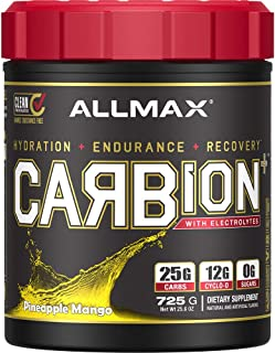 ALLMAX Nutrition Carbion+, Maximum Strength Electrolyte and Hydration Energy Drink, Pineapple Mango, 870g, 30 Servings