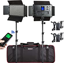 (2 Pack) VILTROX 45W/4700LM Video LED Light 3300K-5600K Lamp CRI 95+ Light Kit for Portrait Wedding News Interview Children Macro Still Life Photography