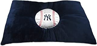 MLB PET Bed - New York Yankees Soft & Cozy Plush Pillow Bed. - Baseball Dog Bed. Cuddle, Warm Sports Mattress Bed for Cats & Dogs