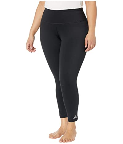 adidas Plus Size Believe This Solid/Heather 7/8 Tights (Black) Women