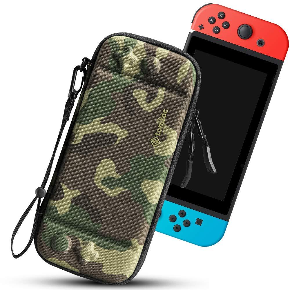 tomtoc Funda Ultra Delgada para Nintendo Switch, Patente Original Estuche Rígido con más Espacio de Almacenamiento para 10 Juegos, Case de Transporte con Proteción de Nivel Militar, Camuflaje: Amazon.es: Videojuegos