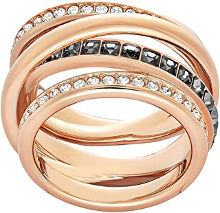 Swarovski 51842 Women's Ring Transparent Glass rosegold/schwarz