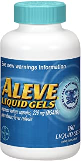 Aleve Liquid Gels with Easy Open Arthritis Cap, Naproxen Sodium, 220mg (NSAID) Pain Reliever/Fever Reducer, Pack of 1, 160 Count