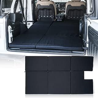 Xprite Black Mattress Sleeping Camping Bed Pad Platform, NitePad Sand Premium 1.5-inch Thick Portable Trunk Cushion for 2018-2020 Jeep Wrangler JL