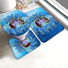 KAIDI-2 Cold Cartoon Turkey 3 Piece Toilet Bath Rugs Set Non-Slip Bathroom Rug Cover Contour Mats Lid Cover for Bathroom