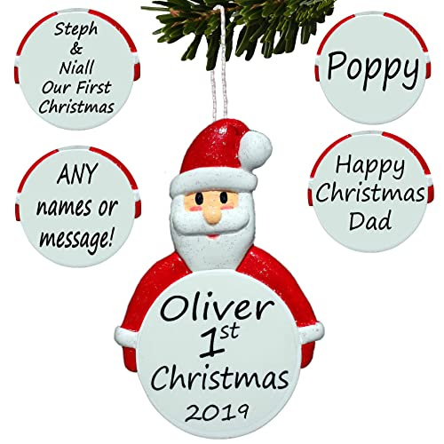 Christmas Tree Decorations Names.Personalised Ceramic Christmas Tree Decorations Amazon Co Uk