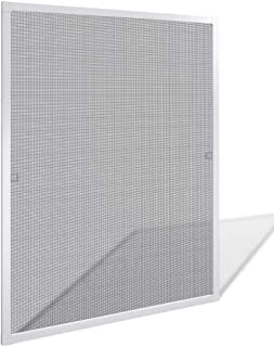 Window Screens Pre-Framed, Ready to Hang - Home Replacement Window Screens - Custom Sizes, Colors & Options - Frame Color: (White), Material Type: (Fiberglass Screen - Grey)