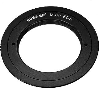 Neewer Adaptador de Montaje de Tornillo Ajustable para Objetivo M42 a cámara Canon EOS como 1d/1ds Mark II III 5D Rebel XT xti T2i y Mucho más Color Negro