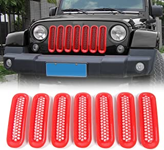 Red ABS Decorative Trunk Sundry Storage Net String Bag Frame Cover Trim for Jeep wrangler 2007-2017-2/4 Door