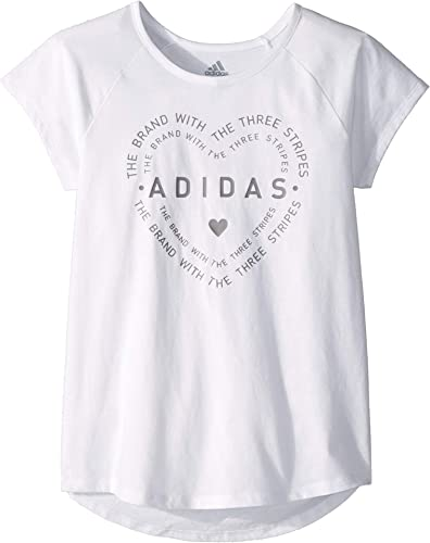Adidas Raglan T-Shirt pour Fille Motif Graphique Grand Enfant