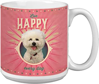 Tree-Free Greetings Extra Large 20-Ounce Ceramic Coffee Mug, Poodle of Happiness Themed Pet Lover Cute Dog Art (XM63162)