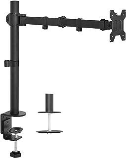 VIVO Single LCD Monitor Desk Mount Stand Fully Adjustable/Tilt/Articulating for 1 Screen 13