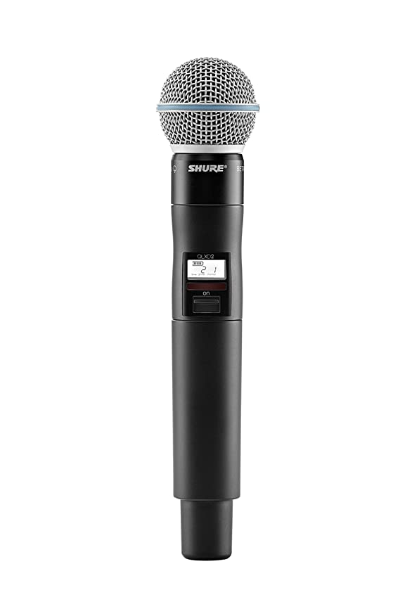 Shure QLXD2/B58 Handheld Wireless Transmitter with BETA 58A Microphone, G50