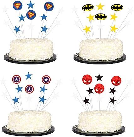 Utensilios De Decoración 96 Piezas De Superhéroes Cupcake