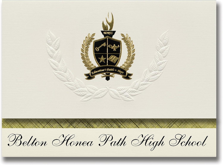 Signature Ankündigungen Belton HONEA Path High School (HONEA Weg, Weg, Weg, SC) Graduation Ankündigungen, Presidential Stil, Elite Paket 25 Stück mit Gold & Schwarz Metallic Folie Dichtung B078VD1W7T   Zuverlässige Leistung  f3b271